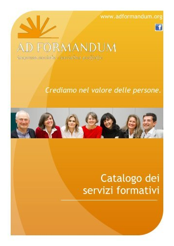 Catalogo dei servizi formativi - AD FORMANDUM impresa sociale