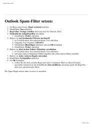 Outlook Spam-Filter setzen - Cyber24.de