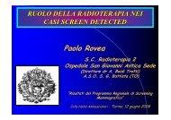 Radioterapia nei casi screen detected (Paolo Rovea) - Dati