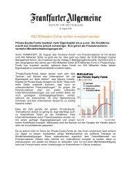 400 Milliarden Dollar wollen investiert werden - SCM AG