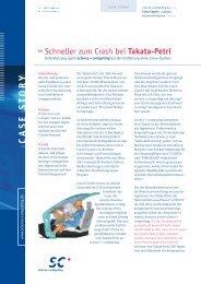 s.cluster im Einsatz bei Takata Petri - Science und Computing AG