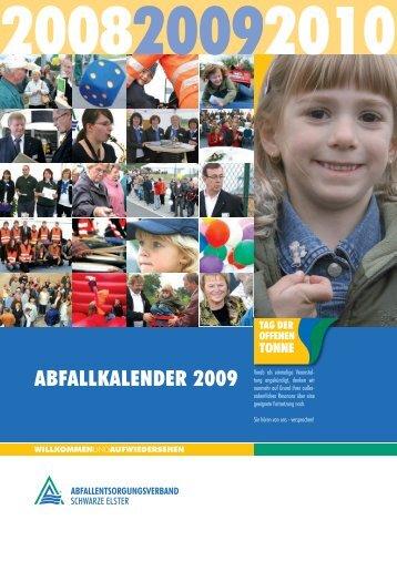ABFALLKALENdER 2009 - Abfallentsorgungsverband Schwarze ...