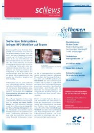 scNews 01/08 - Science und Computing AG