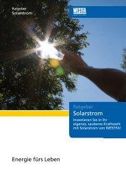 Ratgeber Solarstrom downloaden (PDF, 1.7 MB) - Reklame ...
