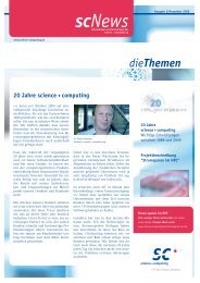 scNews 02/09 - Science und Computing AG