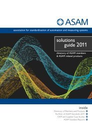 ASAM solutions guide 2011 - Science und Computing AG