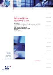 Release Notes scVENUS 2.4.0 - Science und Computing AG