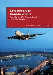 Lloyd Fonds A380 Singapore Airlines - Scope