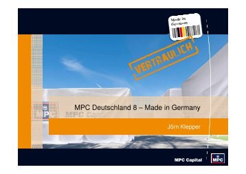 MPC Deutschland 8 – Made in Germany - Scope
