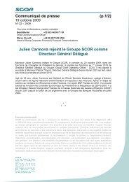 Julien Carmona rejoint le Groupe SCOR comme Directeur Général ...