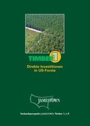 Direkte Investitionen in US-Forste - Scope