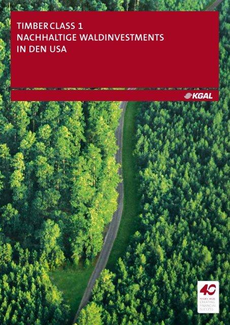 timberclass 1 nachhaltige waldinvestments in den usa - Scope