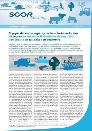 El papel del micro seguro y de las soluciones locales de ... - Scor