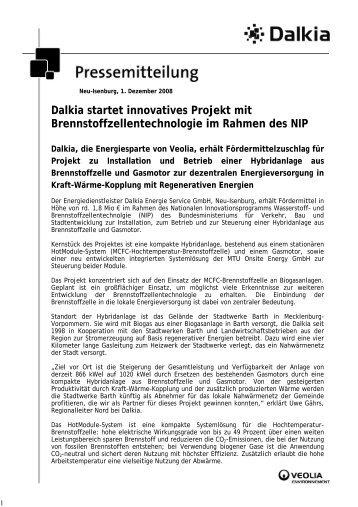 Dalkia startet innovatives Projekt mit Brennstoffzellentechnologie im ...