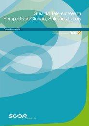 Guia da Tele-entrevista Perspectivas Globais, Soluções Locais - Scor
