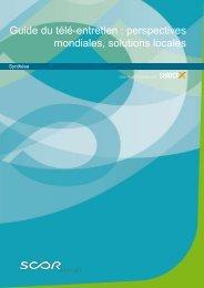 Guide du télé-entretien : perspectives mondiales, solutions ... - Scor