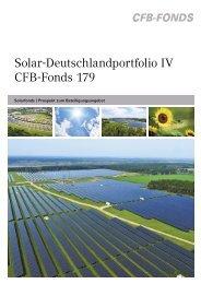Solar-Deutschlandportfolio IV CFB-Fonds 179 - CommerzReal