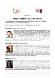 TALES FROM THE CASTING COUCH - European Film Promotion