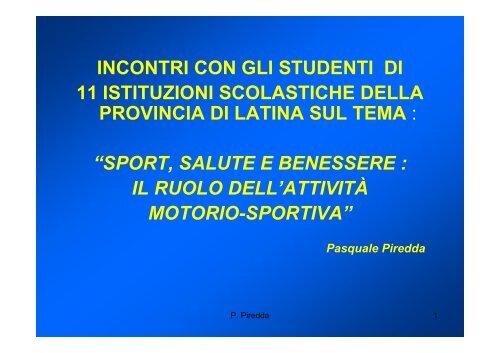 5 Sport E Salute2 Ufficio Scolastico Regionale Per Le Marche