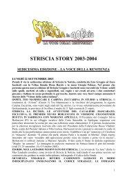 striscia story 2003-2004 – sedicesima edizione - Striscia la Notizia