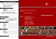 Fördermitglieds- / Spendenantrag - SC Potsdam eV