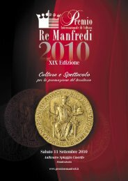 RIVISTA 2010.indd - Premio Internazionale di Cultura Re Manfredi
