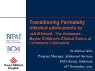 Refilwe Sello transitioning adolescents at Botswana ... - Team PATA