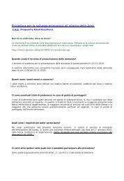 Risposte alle domande più frequenti (file .pdf 43 Kb)