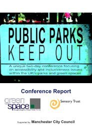 Public Parks: Keep Out - Sensory Trust