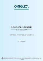 Bilancio Cattolica Assicurazioni al 31 dicembre 2009
