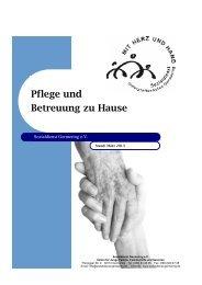 Pflege und Betreuung zu Hause - Sozialdienst Germering