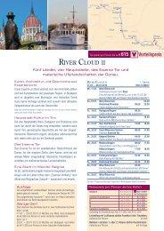 RIVER CLOUD II Vorteilspreis - Sea Cloud Cruises