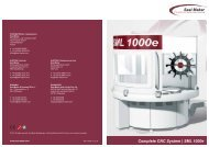 Complete CNC System | SML 1000e - Seal Maker Produktion und