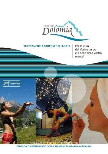 TRATTAMENTI E PROPOSTE 2011/2012 Acqua ... - Terme Dolomia