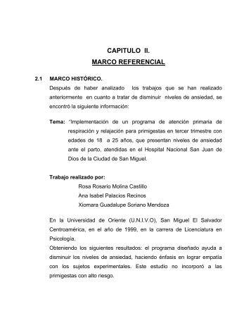 CAPITULO II. MARCO REFERENCIAL - Universidad de Oriente