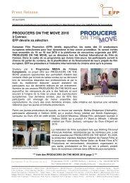 Press Release - European Film Promotion