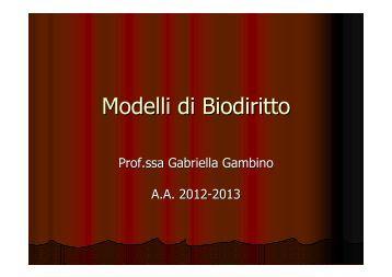 Modelli di Biodiritto