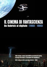 Catalogo rassegna Cinema di FANTASCIENZA - Cineteca Sarda