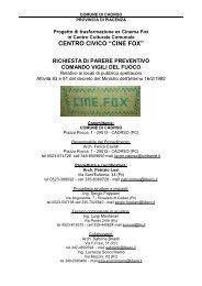 """CENTRO CIVICO """"CINE FOX"""" - Comune di Caorso"""