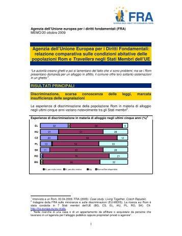Agenzia dell'Unione Europea per i Diritti Fondamentali - European ...