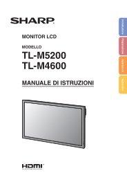 TL-M5200/M4600 Operation-Manual IT - Sharp