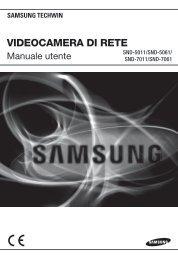Manuale per il prodotto Samsung SND-5011 telecamera IP dome ...