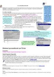 dizionari - Thesaurus - la gestione delle finestre - ugolcd