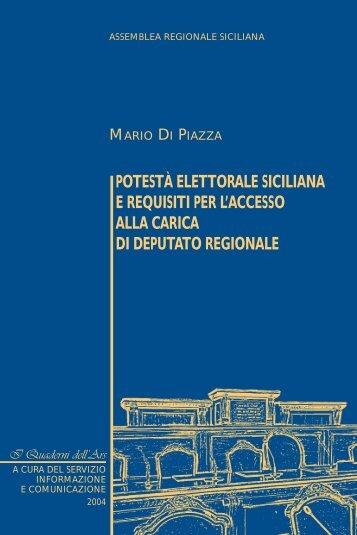 potestà elettorale siciliana e requisiti per l'accesso alla carica di ...
