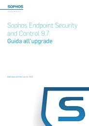 Sophos Endpoint Security and Control 9.7 Guida all'upgrade
