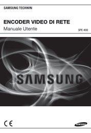 Manuale per il prodotto Samsung SPE-400 codificatore video 4CH ...