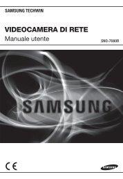 Manuale per il prodotto Samsung SNO-7080R telecamera IP ...
