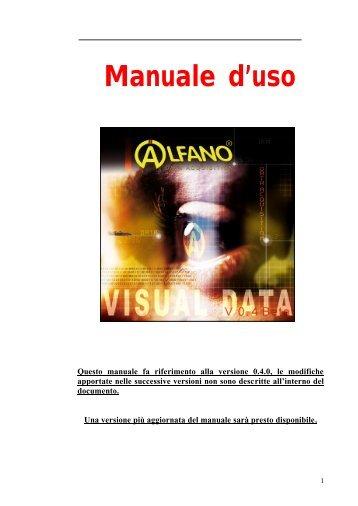 Manuale d'uso - Alfano