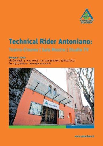 Scarica il Technical Rider - Antoniano
