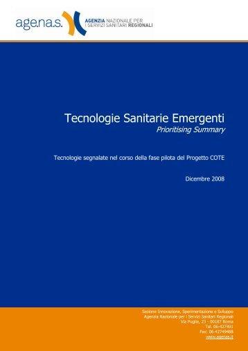 Lista delle tecnologie emergenti segnalate - Age.Na.S.